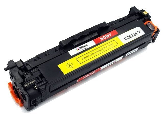 Zgodny z CC532A toner HP Color Laserjet CP2025n CM2320fxi / 2800str. Żółty Nowy DD-Print CC532ADNY