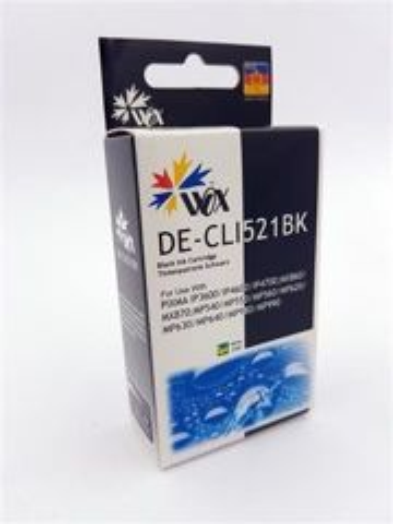 Tusz Wox Black Canon CLI 521BK z chipem zamiennik CLI-521BK